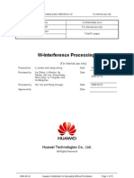 WCDMA Interference Processing Guide - Huawei