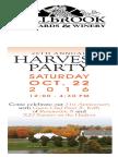 Millbrook Vineyard & Winery Harvest Party Invitation