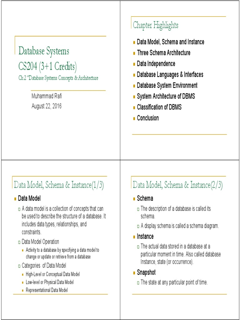 Db cs204 w2pdf data model databases ccuart Choice Image