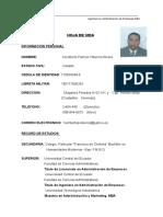 1.- CURRICULUM- VITAE- Patricio Villacres- Enero- 2016