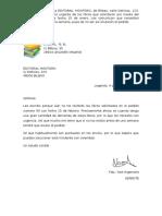 Cartas de Reclamación Supuesto 11