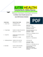 Dr.Shikha's Nutri Health Systems June 2010 Seminar Schedule