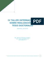 IV Taller Interna Tesis Doctorales Apantoja 2016
