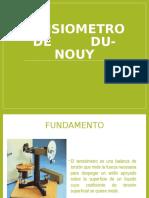 Tensiometro de Du Nouy