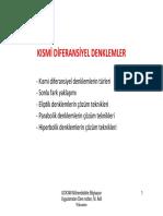 2- Kısmi Diferansiyel Denklemler Ppt