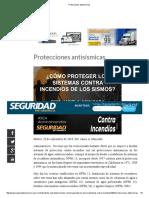 Protecciones antisísmicas