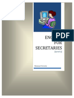English for Secretaries Part 2 March 2012