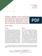 Favor Debilis en El Derecho Privado Internacional - Las Relaciones de Consumo