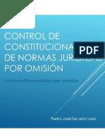Control de constitucionalidad de normas jurídicas por omisión