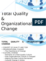 Total Quality and Organizational Change