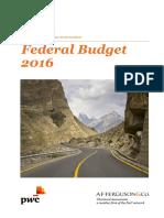 Memorandum on Finance Bill - 2016