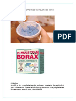 Elaborasion de Una Pelotaa de Borax