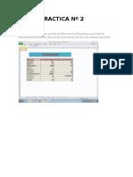 Practica 2 de Excel Octavo