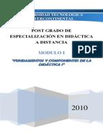 Módulo I-fundamentos y Componentes de La Didáctica i (1)
