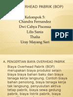 Biaya Overhead Pabrik (BOP)