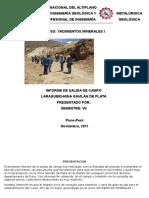 Informe de Yacimientos Primera Salida de Campo.