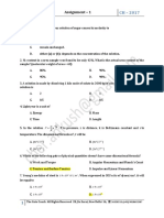 Process Calculations Assignment -1