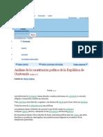 Análisis de La Constitución de Guatemala