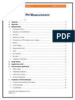 Measurement of pH of Water