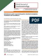 Helicobacter Pylori AsHelicobacter pylori associated gastric intestinal metaplasia