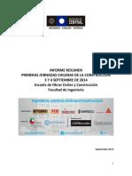 Informe Jornadas Construcción Sept2014
