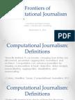 Computational Journalism 2016 Week 1