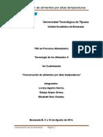Conservacion Por Altas Temperaturas (Reporte)