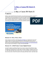 10 Reasons to Buy a Canon 5D Mark II Digital Camera