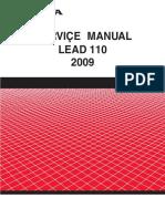 Honda Lead NHX110 2009 Service Manual