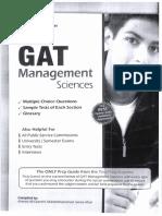 GAT Subject (Management Sciences)