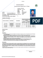 SBP Form
