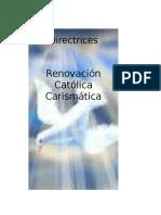Directrices de Renovacion Carismatica Diocesis de Tucson