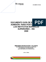 CRITERIOS Y/O INDICADORES DE EVALUACIÓN FÍSICA QUIMICA
