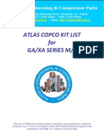 Atlas Copco Ga+Xa Technical Kit List 2009