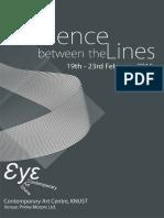 Silence Between the Lines - Kumasi -Exhibition Brochure