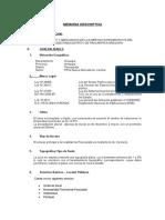 0.-Memoria Descriptiva Proyecto losa deportiva los Granjeros