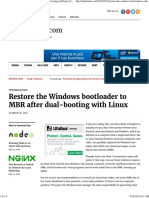 Restore the Windows Bootloader to MBR After Dual-booting With Linux LinuxBSDos