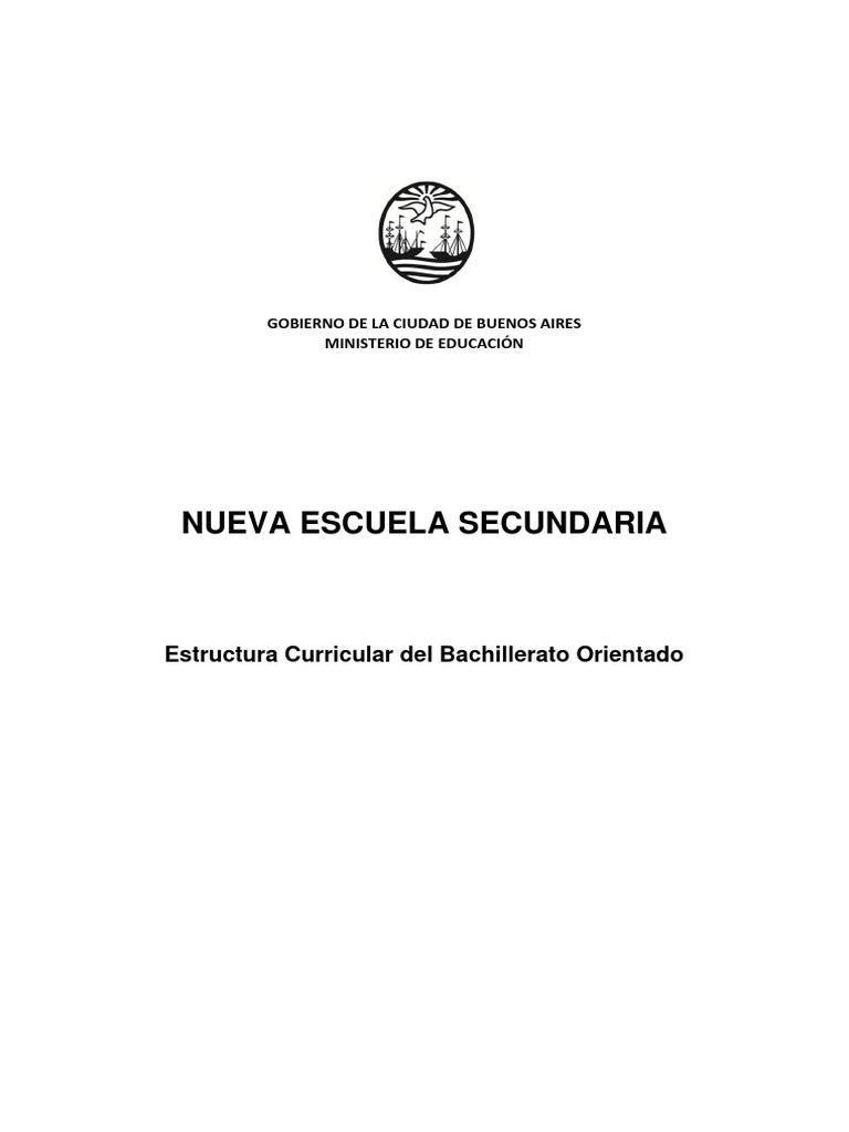 Estructura Curricular De La Nes