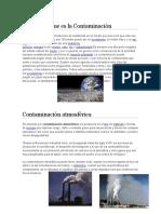 LA CONTAMINACION,TIPOS DE CONTAMINACION,ATMOSFERICA,HIDRICA,POR BASURA,VISUAL,ACUSTICA.docx
