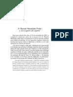 D. Ramón Menéndez Pidal y Los Origenes Del Español