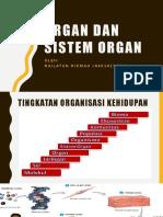 Organ Dan Siistem Organ