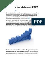 Qué Son Los Sistemas ERP