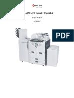 KM-6030 MFP Security Checklist