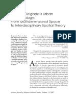 Manuel Delgado's Urban Anthropology.