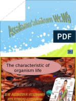 The Characteristic of Orgsnism Life (Penterr)