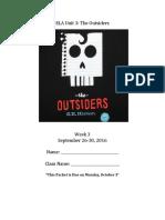 outsiders week 3 packet