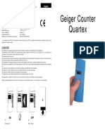 Geiger Counter Quartex Manual
