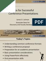 Conference Presentation Tips