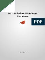 JustLanded for WordPress Manual