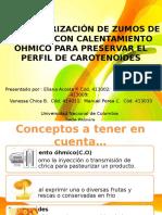 La Pasteurización calentamiento ohmico